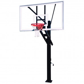 Stainless Olympian Supreme Adjustable Height Basketball Goal
